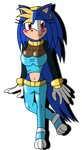 Daughter Of Sonic And Kechi: Winoia The Hedgehog by SeleanaMermaid-Kechi