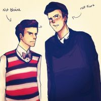 Puck is Blaine and Finn is Kurt by Snowfest
