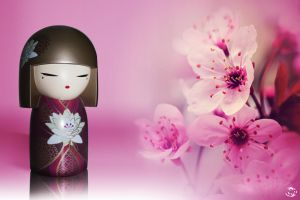 Kokeshi - Life is pink by Fredetline