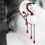 Red Crystal Ear Wrap and Cuff Set- SOLD by YouniquelyChic