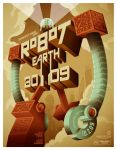 robot earth 3009 poster by strongstuff