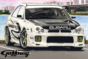 Colored Pencil Subaru WRX by theGaffney
