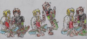 Hiccup and Astrid - You're not going anywhere by Hukkis