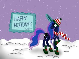 Happy Holidays!- Luna by Ask-ThePonyQueen