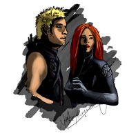 Black Widow and Hawkeye: Incoming by nottonyharrison