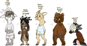 more weird adoptables by fqs