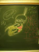Chalkboard Robin by Methuselah87