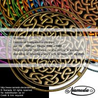 Round Knotwork Brooch Shield Stock by Nameda