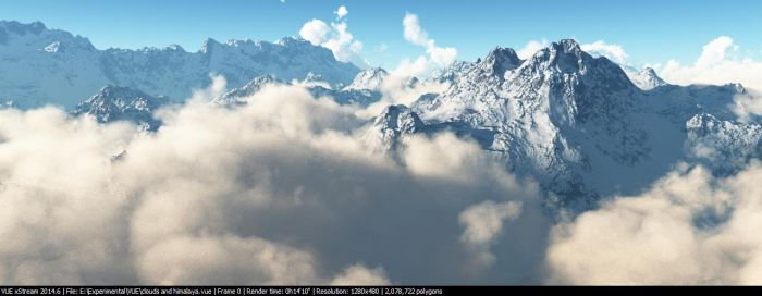 Clouds mountain by djrana