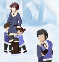 Ice Skating with family by Tsukiyoumi