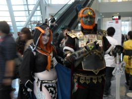 Midna and Ganondorf by CharlotteElbourne