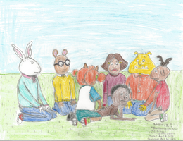 Sad Demetre with Arthur and Friends by WillM3luvTrains