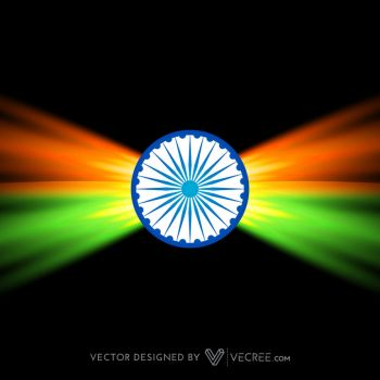 Creative Dark Indian Flag Design Free Vector by vecree