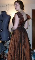 Copper Holiday Gown Const. 05 by Syagria