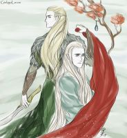 Thranduil - Legolas by GinkgoLouve