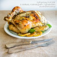 lemon chicken with sage, rosemary and thyme by Pokakulka