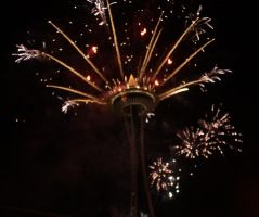 Space Needle 2011 Fireworks by jkrolak