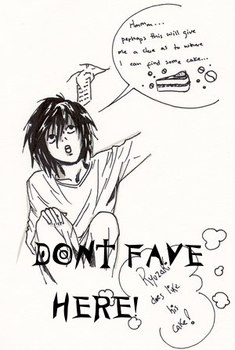 ::L likes his cake:: by L-Lawliet-Fanclub