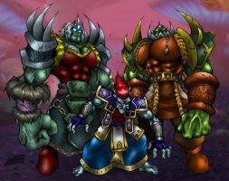 3 Bad Ass Orcs by GraphicBrat