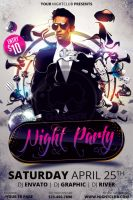 Night Party Flyer Template by koza30