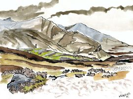 view south to Fionaven with snow by merearthling