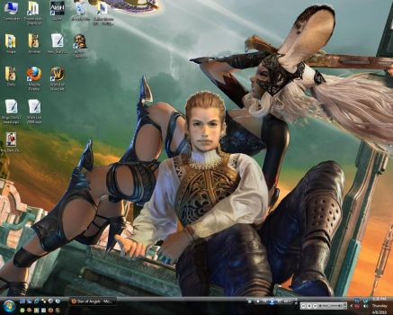 Fran and Balthier Desktop by Weslie