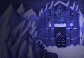 Snowy Monastery by Echolaitoc