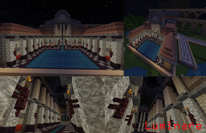 Minecraft- Roman Bath House by X-Luminare-X