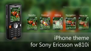 iPhone theme for SE w810i by yodino