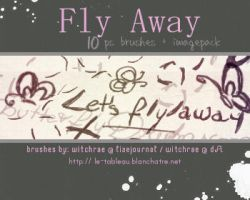 Brushes - Fly Away by witchrae