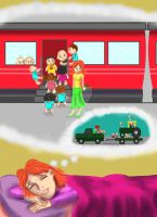 Traveling by Train nTractors with toddlers by Rene-L
