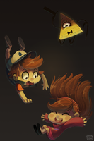 Gravity FALLS.... get it? by ChocoChaoFun