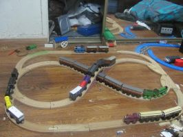 Busy Little Layout: Different Trains by ZeldaTheSwordsman