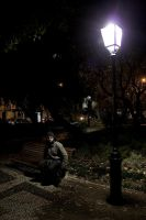 a night walk at the park by bloodymichael