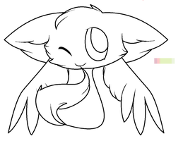 winged cat blob base by dragonsweater