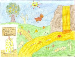 Colorized Mystical Cheese Land by Thora-T