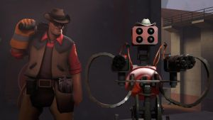 Texan Engineer and his Texan Sentry by BlueOrionBelt