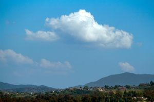 Cumulus Cloud Over Anaheim Hills, CA by dannypyle