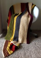 Doctor Who Afghan - Fourth Doctor Blanket by Weeaboo-Warehouse