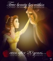 Beauty and the Beast 20th anniversary by Lady--knight
