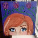 FROZEN Anna Acrylic Painting FOR SALE by FumiDeeCat