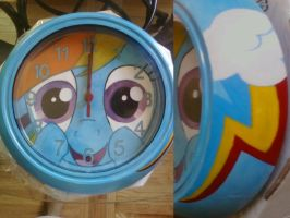 Rainbow Dash clock (second one) by cutiechibi