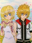 Roxas and Namine  by dagga19 by dagga19