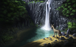 Waterfall by Mandilor