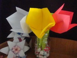 Origami Tulips by Path-of-Sendo
