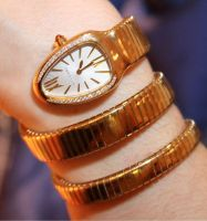 Luxury fashion Bvlgari Snake rose gold watch by ailsalu