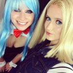 Android 18 and Bulma by HaleyHelloKitty