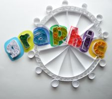1st Attempt at Paper Quilling by iacopellib