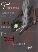 Toothless controlled by the Alpha by babybunnycarrots