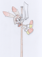 Cream The Rabbit - Flagpole by ManicSam
